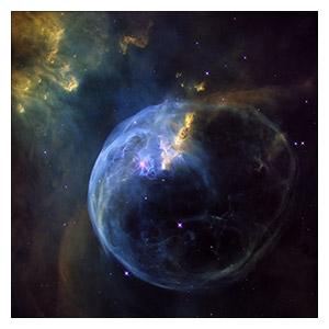 Космические пейзажи. Размер: 70 х 70 см